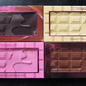 I heart Makeup, 4 stk Chokolade paletter, dufter skønt. Kun brugt ganske lidt. Sælges for 59;+p pr stk.