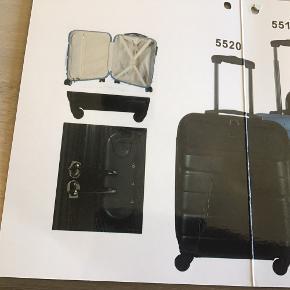 Sort kabine kufferterne brugt en gang