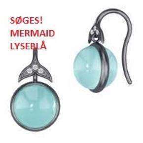 Jeg søger disse øreringe. De hedder Mermaid og er i oxideret sølv med lyseblå sten.