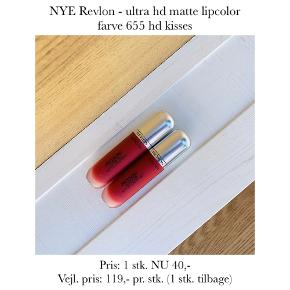 NYE Revlon - ultra hd matte lipcolor farve 655 hd kisses  Pris: 1 stk. NU 40,- Vejl. pris: 119,- pr. stk. (1 stk. tilbage)   Se også over 200 andre nye produkter, som jeg har til salg herinde :-)