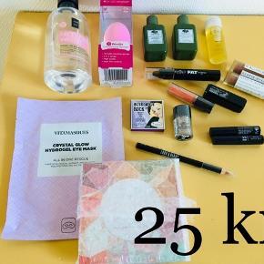 Fra Goodiebox, Lookfantastic Box og andet - sælges for 25 kr pr stk 😊  Vitamasques, Essence, INC.redible, BBB London, Eyeko, NYX
