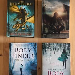 Diverse bøger i god stand, spørg for pris. Body Finder bøgerne er solgt.