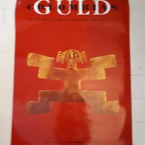 Colombias Guld plakat fra Århus Kunstmuseum udstilling. Måler 70 x 100 cm. Har ikke været oppe at hænge. Kommer af og til til Kbh og kan have den med der.