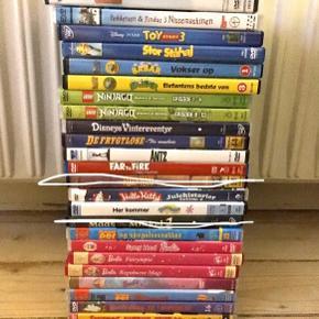 Mange forskellige DVD-film til børn - se foto.   10 kr. pr. stk. - og samme porto uanset hvor mange du køber👍