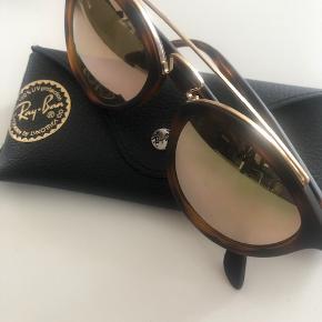 Ray Ban solbriller med brunt stel og guld glas
