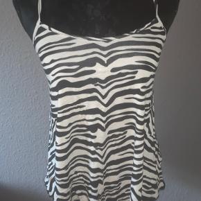 Sommer-top med zebra mønster